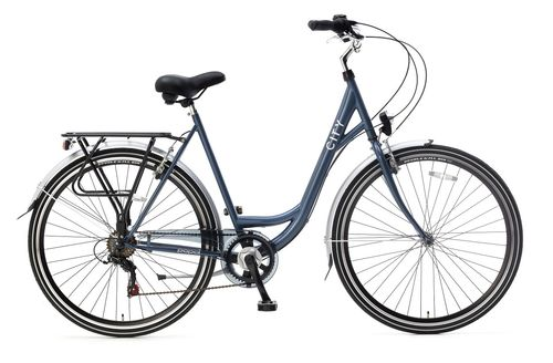 City 6 Speed dames 28 inch 49cm Blueberry