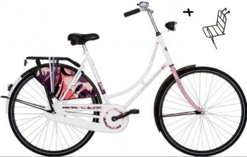 Puch omafiets Wit/roze Remnaaf 57cm