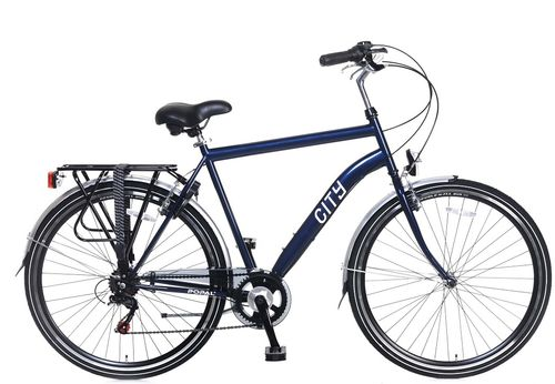 City 6 Speed 28 inch 57cm Steel Blue