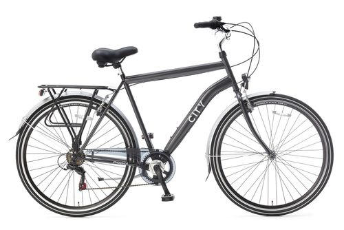 City 6 Speed 28 inch 57cm Iron Grey